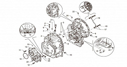 TRANSMISSION HOUSING AND ITS CONNECTIONS (2WD)