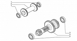 REVERSE AND PRIMARY SHAFTS (2WD)