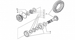 FRONT AXLE-BEVEL GEAR SET 4WD